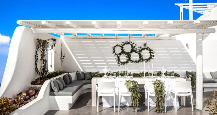 Events and receptions in Santorini